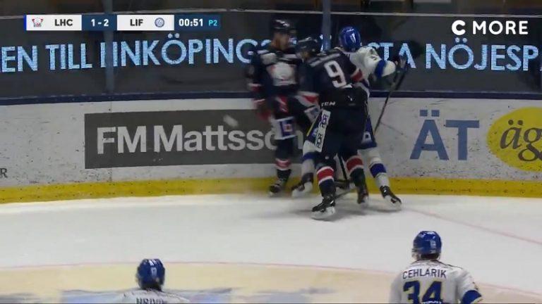 Video: SHL:ssä viiden ottelun pelikielto – Linköping-pelaaja jysäytti älyttömän kammotaklauksen vastustajan selkään