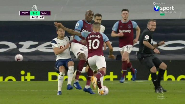 Video: Käsittämätöntä draamaa – Manuel Lanzini huipensi West Hamin kirin hirmutykillä lisäajan viimeisellä minuutilla