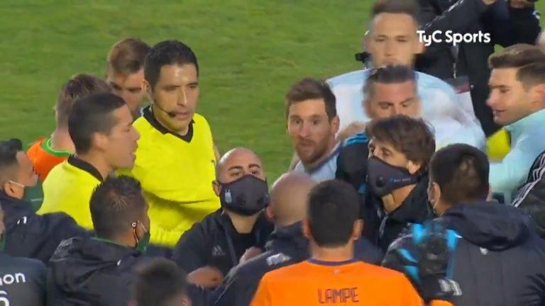 Video: Lionel Messi ajautui sanaharkkaan Bolivian kapteenin ja fysion kanssa – fysio sai uhkauksia tapauksen jälkeen