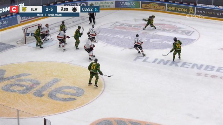 Video: Ilveksen NHL-laina ampui huikean maalin – raju lämäri aivan yläpesään