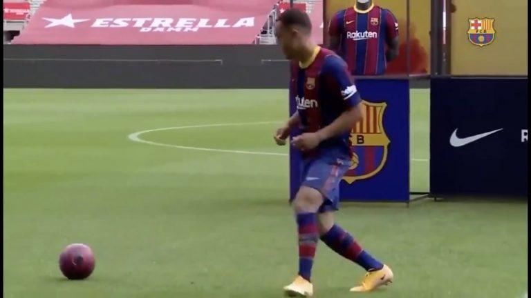 """Video: Barcelonan uuden hankinnan nolo """"kikkavideo"""" lähti leviämään – seura yritti paikkailla myöhemmin"""