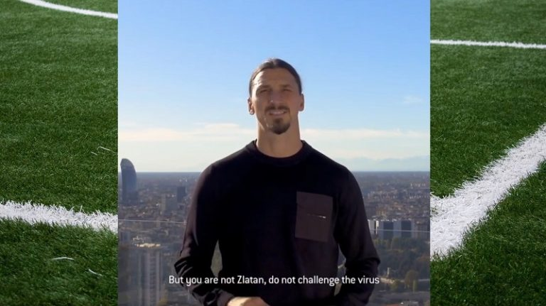 """Video: """"Sinä et ole Zlatan"""" – Zlatan Ibrahimovic tähdittää italialaista maskikampanjaa nöyrään tyyliinsä"""