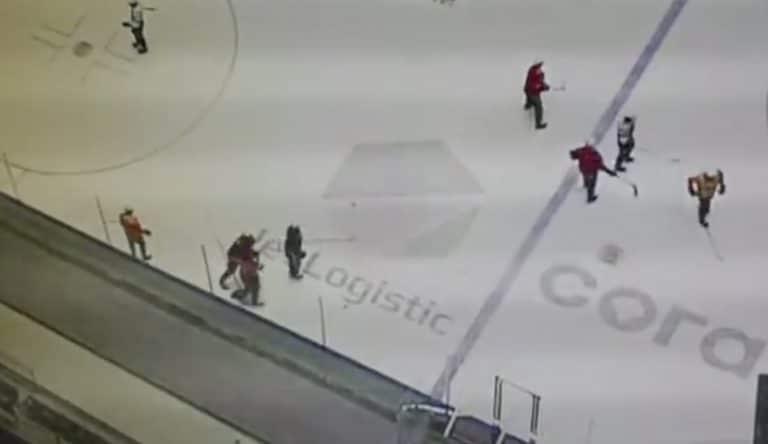 Video: KHL-seura Barysin harjoituksissa järjetön ylilyönti – nyrkki puhui ja joukkuekaverin leuka murtui