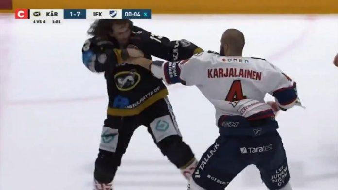 Libor Sulak Kärpät vs Miro Karjalainen HIFK / Pallomeri.net