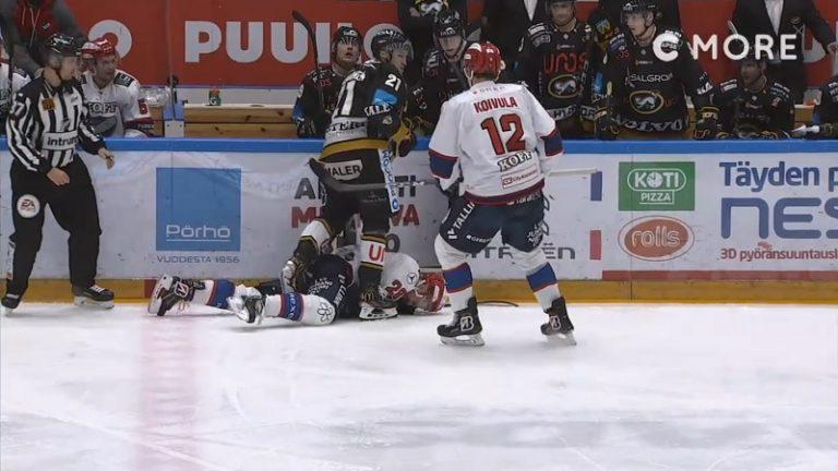 Video: Kärppien Otto Karvinen sai kolmen ottelun pelikiellon rumasta laitataklauksestaan