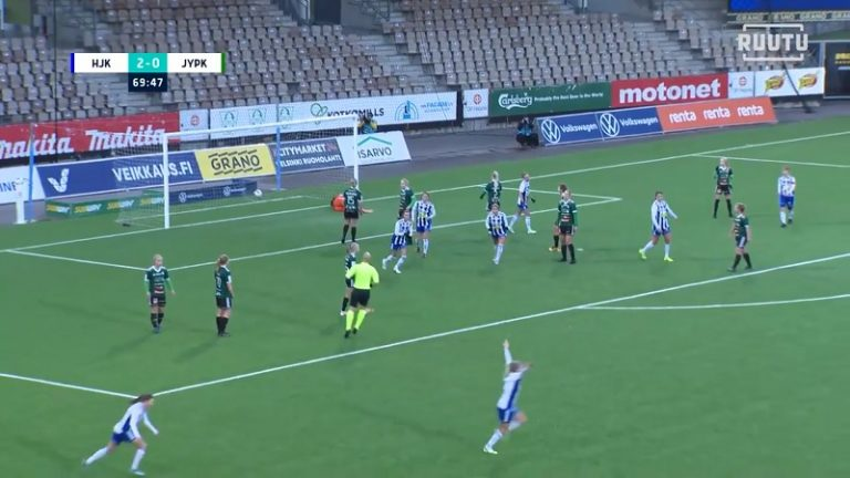 Video: Jäätävä vapaapotku Kansallisessa liigassa – HJK:n Nea Lehtola kahvitti vastustajat aivan totaalisesti