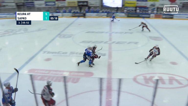 Video: SaPKo-hyökkääjälle neljän ottelun pelikielto – kolautti vastustajaa suoraan kupoliin