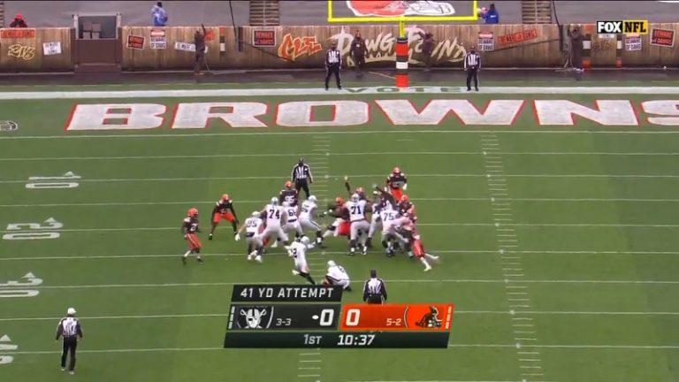 Video: NFL-matsia pelattiin tylyssä kelissä – raju tuulenpuuska blokkasi Raidersin potkumaaliyrityksen