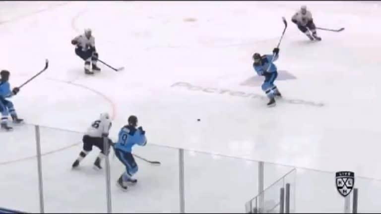 Video: Huikea pyssy – Sibirin Mikael Ruohomaa kuritti maaliverkkoa KHL:ssä