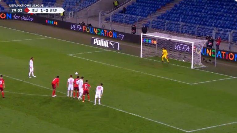 Video: Sergio Ramos missasi kaksi pilkkua Sveitsiä vastaan