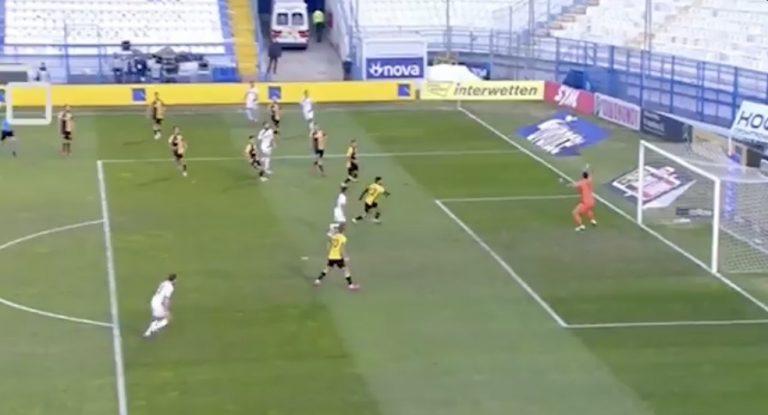 Video: Tim Sparv tälläsi huikean maalin Kreikan liigassa