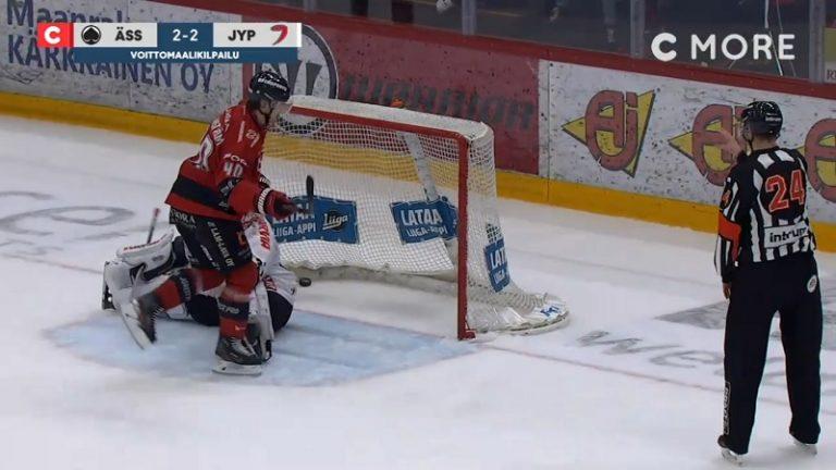 Video: Ässien rankkarispesialisti kynäili näyttävän voittomaalin – veti NHL-vahti Veini Vehviläisen aivan solmuun