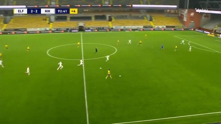 Video: AIK-pelaaja hiekoitti Elfsborgin lisäajan vastaiskun täysin hävyttömästi – heitti toisen pallon peliin