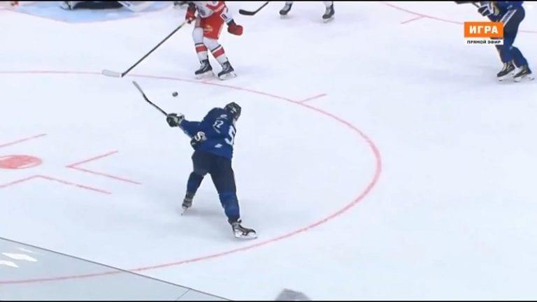 Video: Otso Rantakari tykitti Leijonille voiton – hurja pommi suoraan syötöstä ylähyllylle