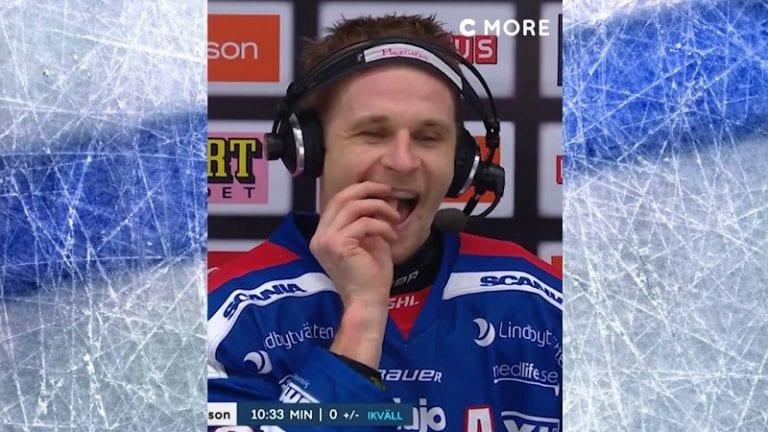 Video: SHL-pelaajalle sattui koominen jäätyminen – unohti hammassuojan suuhun haastattelussa