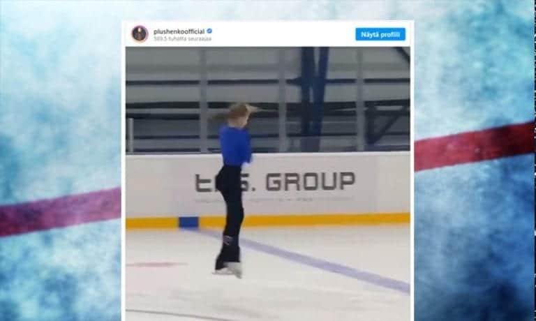"""Video: 12-vuotiaan temppu hämmästyttää – """"Olen shokissa, mihin nämä venäläisluistelijat pystyvät"""""""
