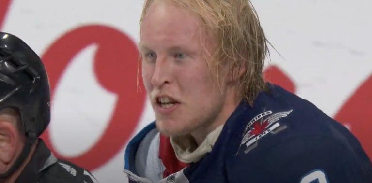 Video: Patrik Laine lähti puolustamaan joukkuekaveriaan – heitti hanskat jäähän ja oli halukas myllyttämään