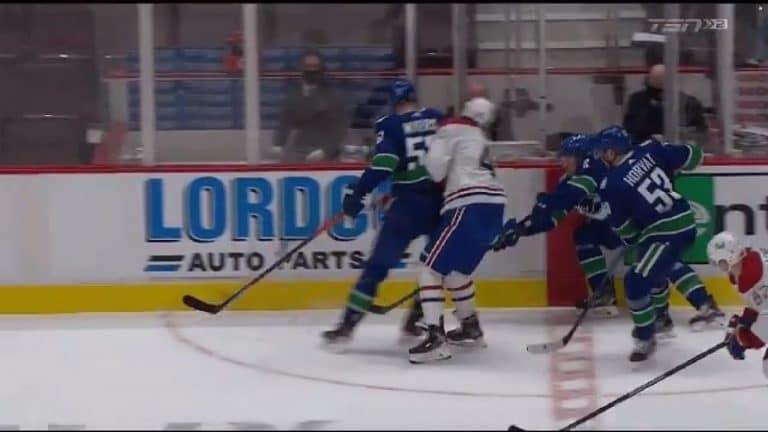 Video: Joel Armian ennätysilta päättyi tylysti – Vancouver-pakki jyräsi rumasti suoraan päähän