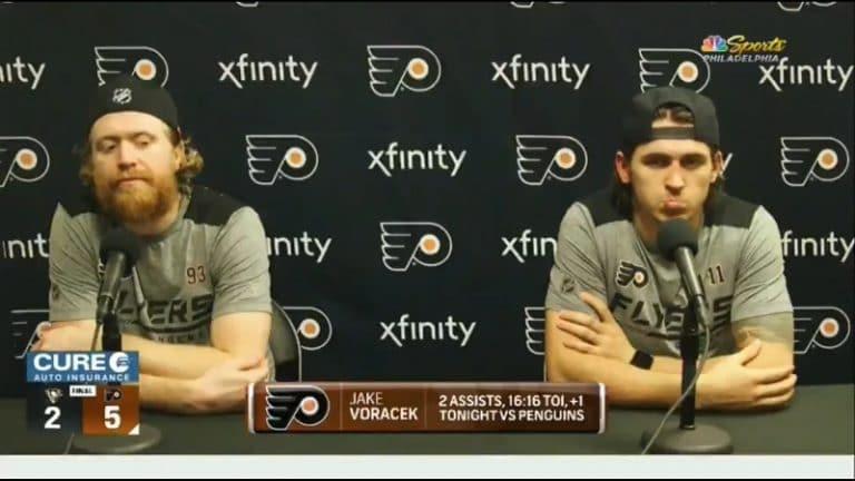 """Video: Philadelphian Jakub Voracek tylytti toimittajaa kunnolla – """"Kirjoitat kuitenkin aina ihan v****moista p****a!"""""""
