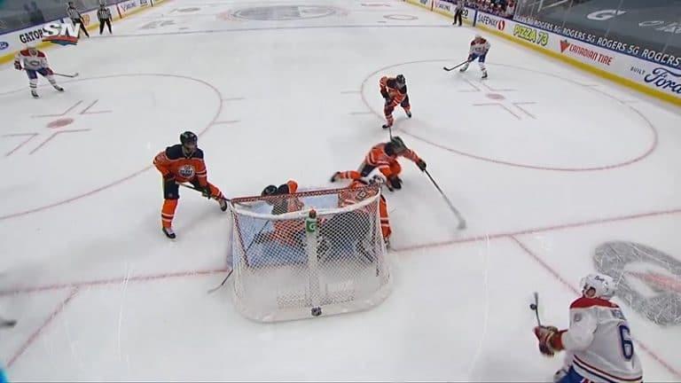 Video: Shea Weber nöyryytti Edmontonin Mikko Koskista maalin takaa – valmentajan haasto pelasti ovelan osuman