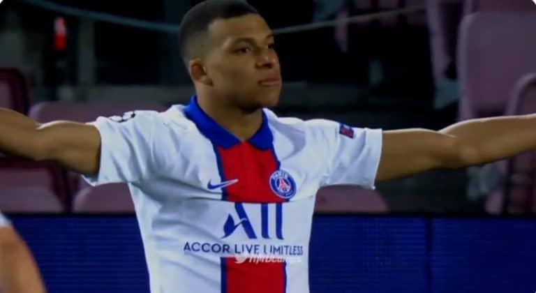 Kylian Mbappe fantastisessa iskussa – PSG murjoi Barcelonan Camp Noulla