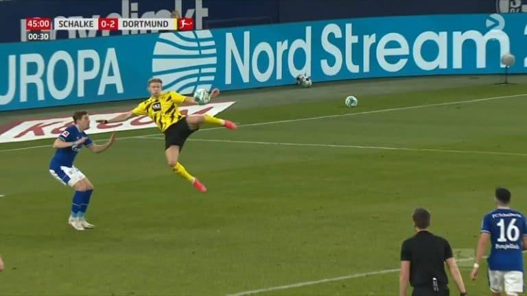 Video: Maalitykki Erling Håland hämmästytti Bundesliigassa – aivan uskomaton ninjavolley vasurilla