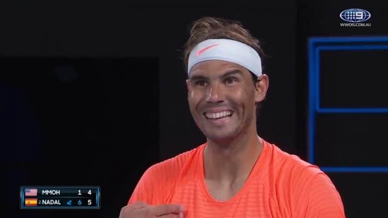 """Video: """"Vauhtia, senkin pakko-oireinen m****u!"""" – Rafael Nadal sai huutia naispuoliselta häiriköltä"""