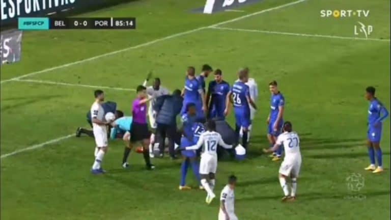 Video: Karmaiseva kolari Portugalin liigassa – Porton Nanu makasi pitkään kentällä liikkumatta