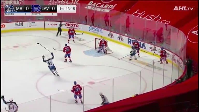 Video: Jesse Ylönen teki oman maalin – merkittiin Ville Heinolan AHL-uran avausmaaliksi