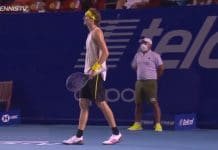 Alexander Zverev acapulco maanjäristys ATP tennis - pallomeri.net