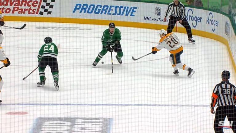 Video: Eeli Tolvasen leijaveto upposi sisään – nakutti NHL-uransa ennätyspisteet