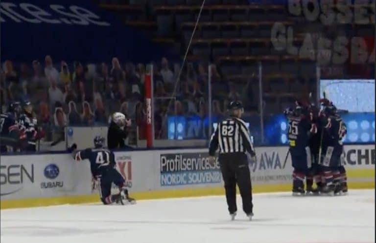 Video: Jaakko Rissanen veivasi näyttävän maalin SHL:ssä – joukkuekaveri tuuletti ja lensi komeassa kaaressa vaihtoaitiosta jäälle