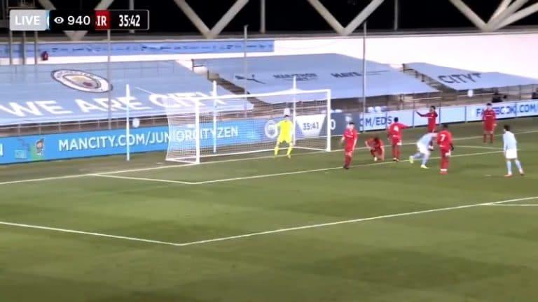 Video: Man City -junnu teki huikean maalin FA Youth Cupissa – jäätävä kantapäämoukari takakulmaan