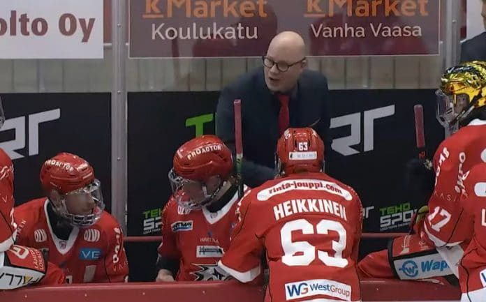 Liigan pudotuspelit Liigassa Vaasan Sport Risto Dufva Liiga - pallomeri.net