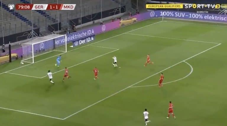 Video: Timo Werner missasi koomisesti tyhjän maalin – Saksalle shokkitappio