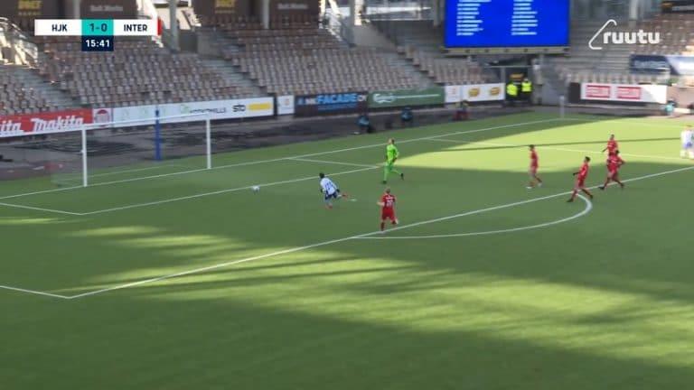 Video: Inter-puolustus toheloi huolella – HJK sai kaksi lahjamaalia seitsemän minuutin sisään