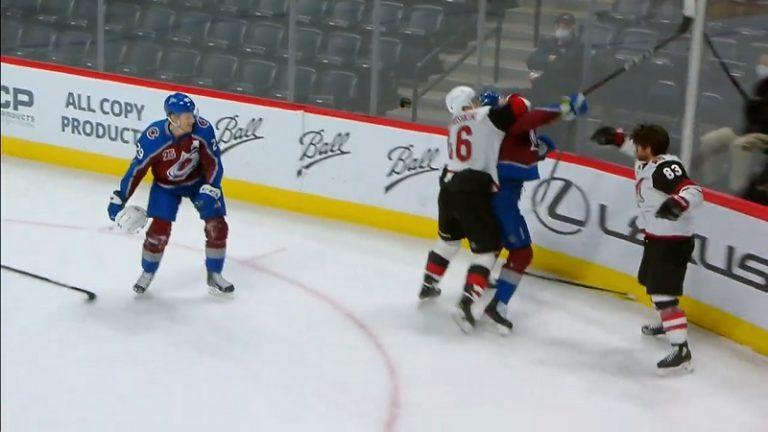 Video: Nathan MacKinnon sai NHL:ltä sakot kypäräepisodista