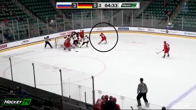 Video: Venäjän Matvei Michkov dominoi U18 MM-kisoissa – hattutemppu, ilmaveivi ja yläpesäveto omista puikoista