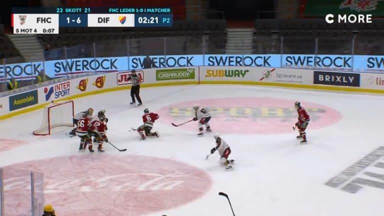 Video: Täysin likainen soolo – Frölunda-pakki kynäili vastustajat solmuun, vaikka kävi polvillaan