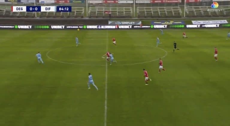 Video: Ruotsin Allsvenskanissa isketiin uskomaton voittomaali – pallo puolesta kentästä sisään