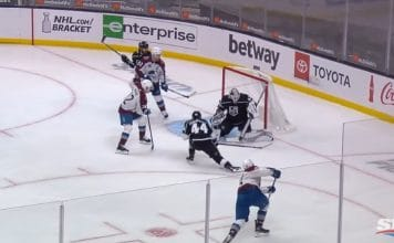 Mikko Rantanen maali one-timer colorado la kings nhl - pallomeri.net