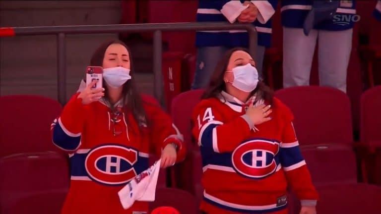 Video: Canadiens-fanit palasivat halliin yli vuoden tauon jälkeen – ottivat kansallislaulun huikeasti haltuun