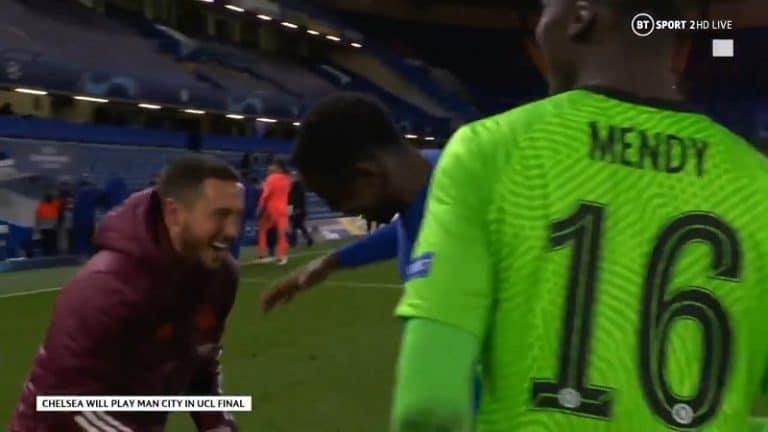 Video: Eden Hazard naureskeli Chelsea-pelaajien kanssa tappion jälkeen – Madridissa vaaditaan päätä vadille