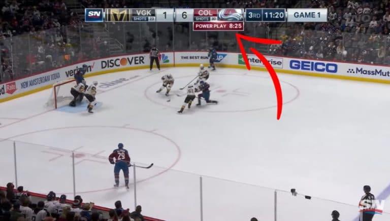 Video: NHL:ssä todella erikoinen tilanne – Colorado sai 9 minuutin ylivoiman