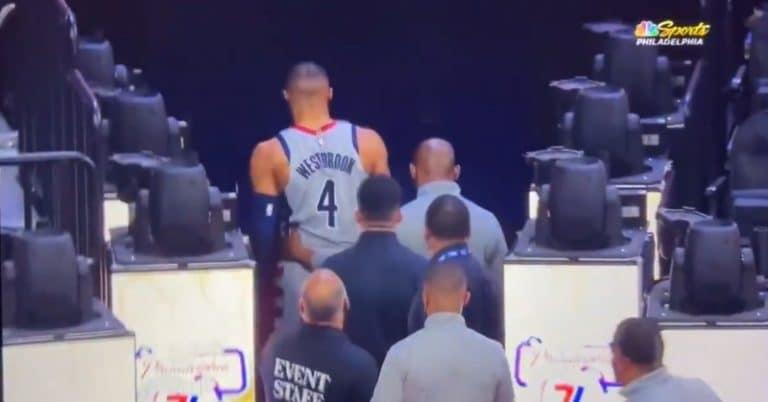 Video: Russel Westbrook sai popkorneista päälleen – oli valmiina vetämään fania pataan