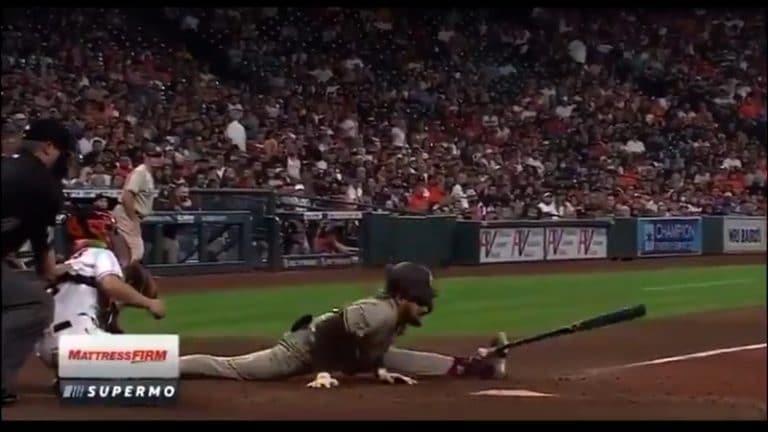 Video: Uskomaton spagaattiväistö – Padres-tähti Fernando Tatis Jr. teki kaikkensa välttääkseen osuman