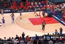 NBA fani juoksi kentälle - pallomeri.net