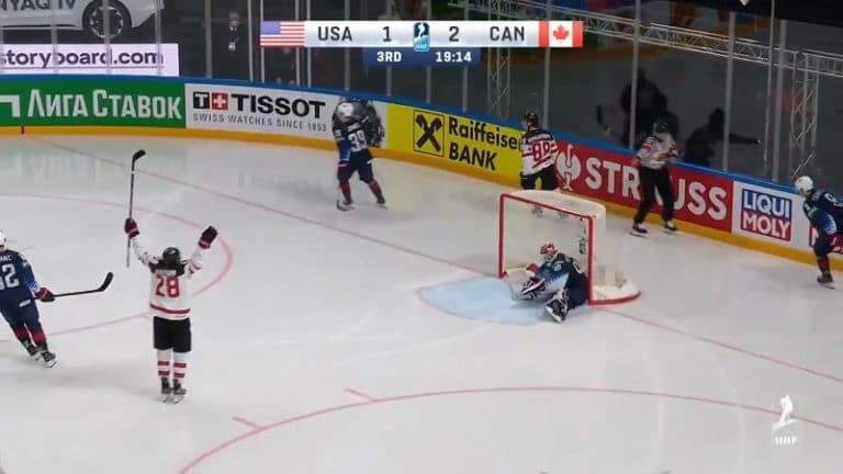 Video: Kanada kepitti jenkit ja runnoi tiensä finaaliin – Andrew Mangiapanen voittomaali kestää kelailua