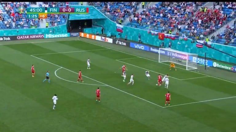 Video: Huuhkajat joutui pettymään – Venäjän Aleksey Miranchuk teki komean voittomaalin