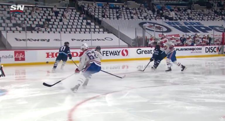 Video: Fantastinen av-maali ratkaisi – Tyler Toffoli painoi kiekon Winnipegin rysään
